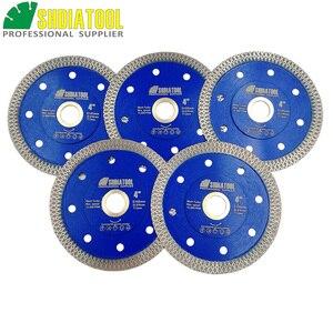 SHDIATOOL 5 шт. Алмазные спеченные режущие диски X сетка турбо пила Лезвие Dia 4