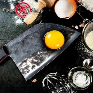 Image 3 - Couperet chinois couteaux de cuisine faits à la main, outils de cuisine de Chef, cadeau de noël tranchage de légumes et viande BBQ Camping en plein air