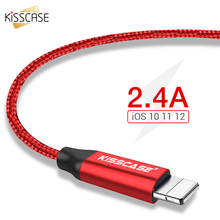 KISSCASE USB Cable for iPhone X XS Fast Charging Micro Samsung Galaxy Huawei Xiaomi Type C Charger Adapter
