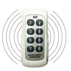 Image 1 - 433.92MHz RF 모듈 스위치 컨트롤러 무선 원격 제어 송신기 8 채널 키 학습 코드 스위치 차고 문