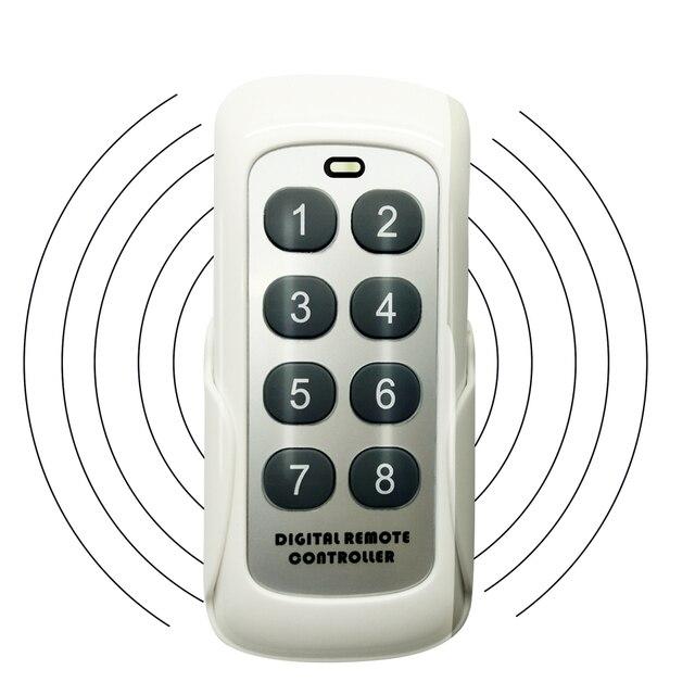 433.92MHz RF 모듈 스위치 컨트롤러 무선 원격 제어 송신기 8 채널 키 학습 코드 스위치 차고 문