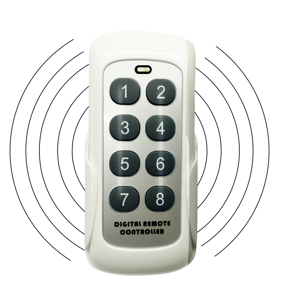 Universal RF433MHz Wireless Learning Code Digital Remote Controller Transmitter 8 Channels Buttons Keypad ASK PT2262 1527/2240