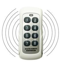 433.92mhz rf módulo interruptor controlador de controle remoto sem fio transmissor 8 canais chave código aprendizagem para porta garagem