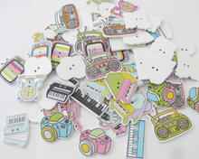 WBNAWL lovely assorted kids love buttons mixed 100pcs DIY sewing supply handmade button wooden