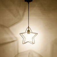 metal lamp shade Creative Star Metal Cage Style Designer Ceiling Light Lamp Shade Pendant Decor