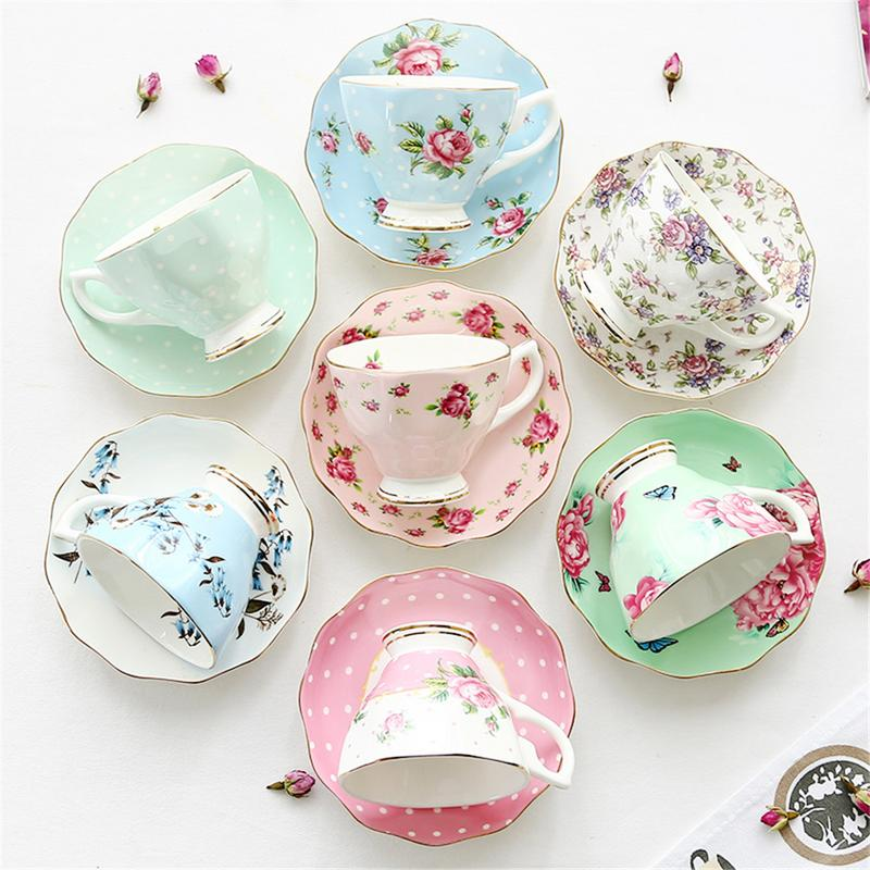 Ceramic Coffee Cup 180ml Chinese Style Fun Design Exquisite Bone China Coffee Cup Saucer Spoon Set Family For Products