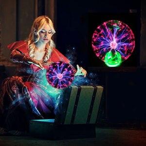 Image 5 - 4/5/6/8 Magic Globo di Cristallo Desktop Sfera di Plasma Lampada 8 w 12 v Touch nebula Luce Della Decorazione Per Le Feste A Casa Cafe Bar