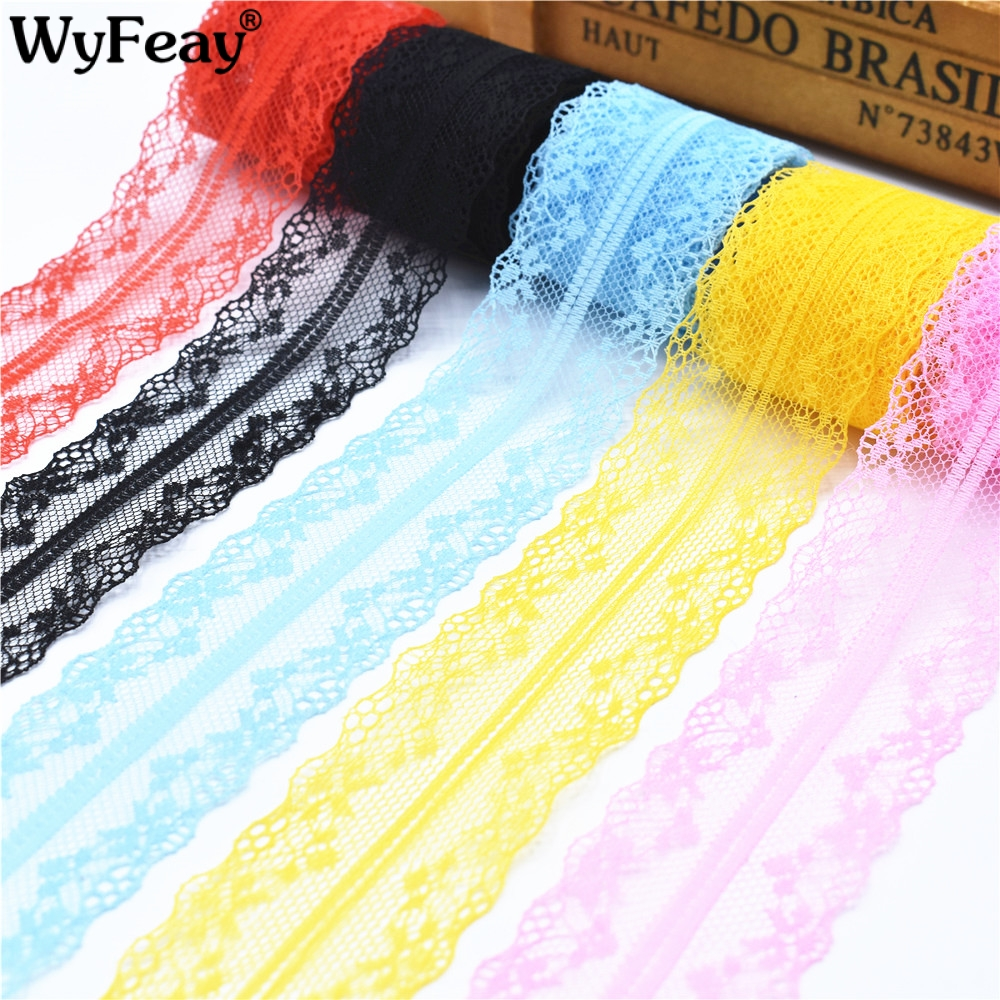 10 Yards Lace Ribbon Tape 40MM Wide Trim Fabric DIY Handicrafts Embroidered Net Cord For Sewing Decoration African Lace Fabric