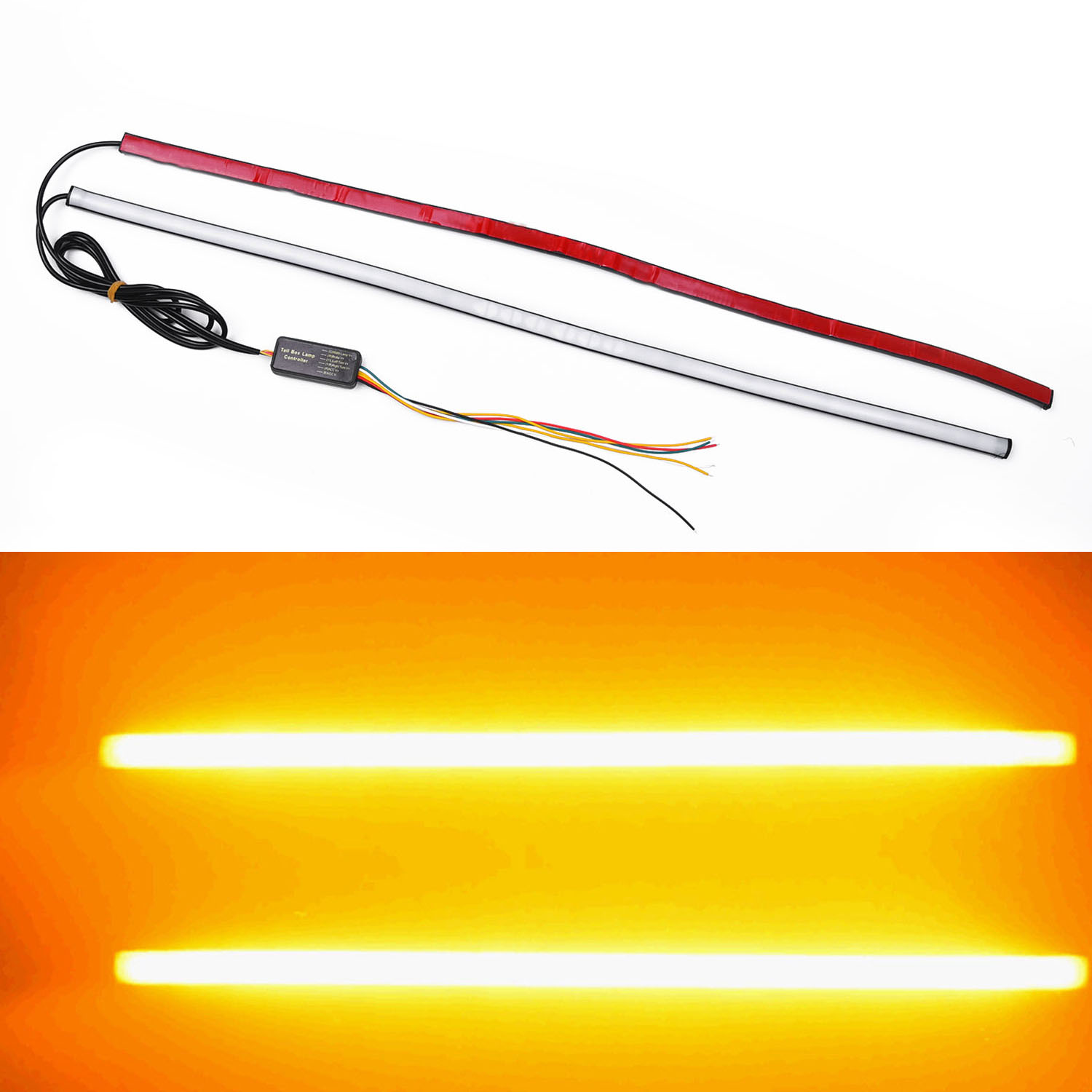 1 Pair Drl Switchback Flowing Led Bulbs Strip Sequential Turn Signal Headlights