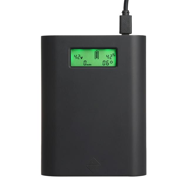 Soshine E3S-QC Pin Sạc Ngân Hàng Điện Sạc Box LCD Hiển Thị Đa Chức Năng 30 W Sạc Nhanh 4 Khe Cắm 18650 Pin Sạc