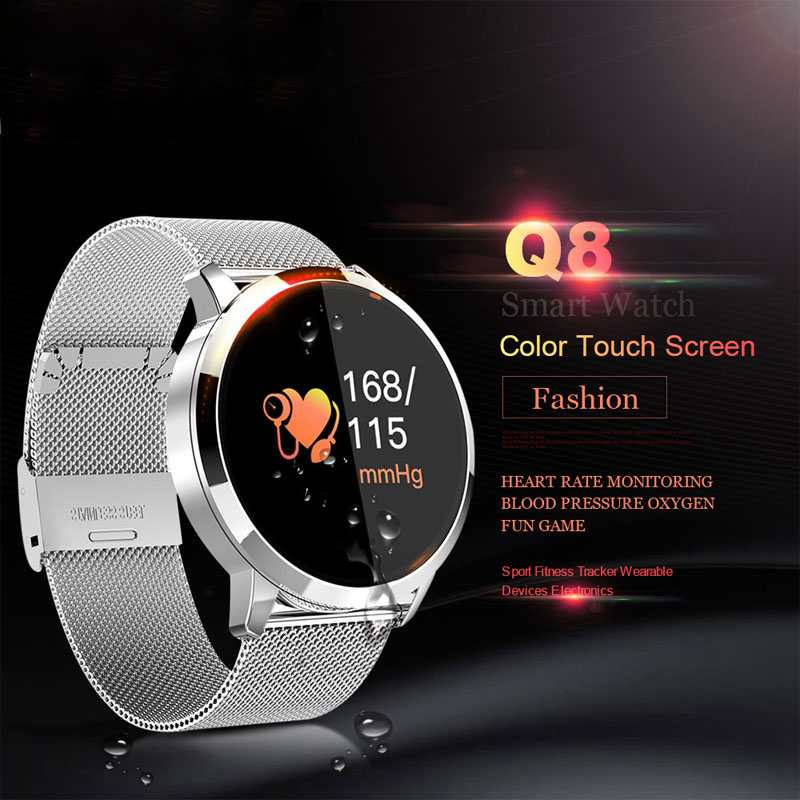Information Push Smart Wristband Exercise Mileage Smart Watch Men Blood Oxygen Monitor Smart Clock Android IOS