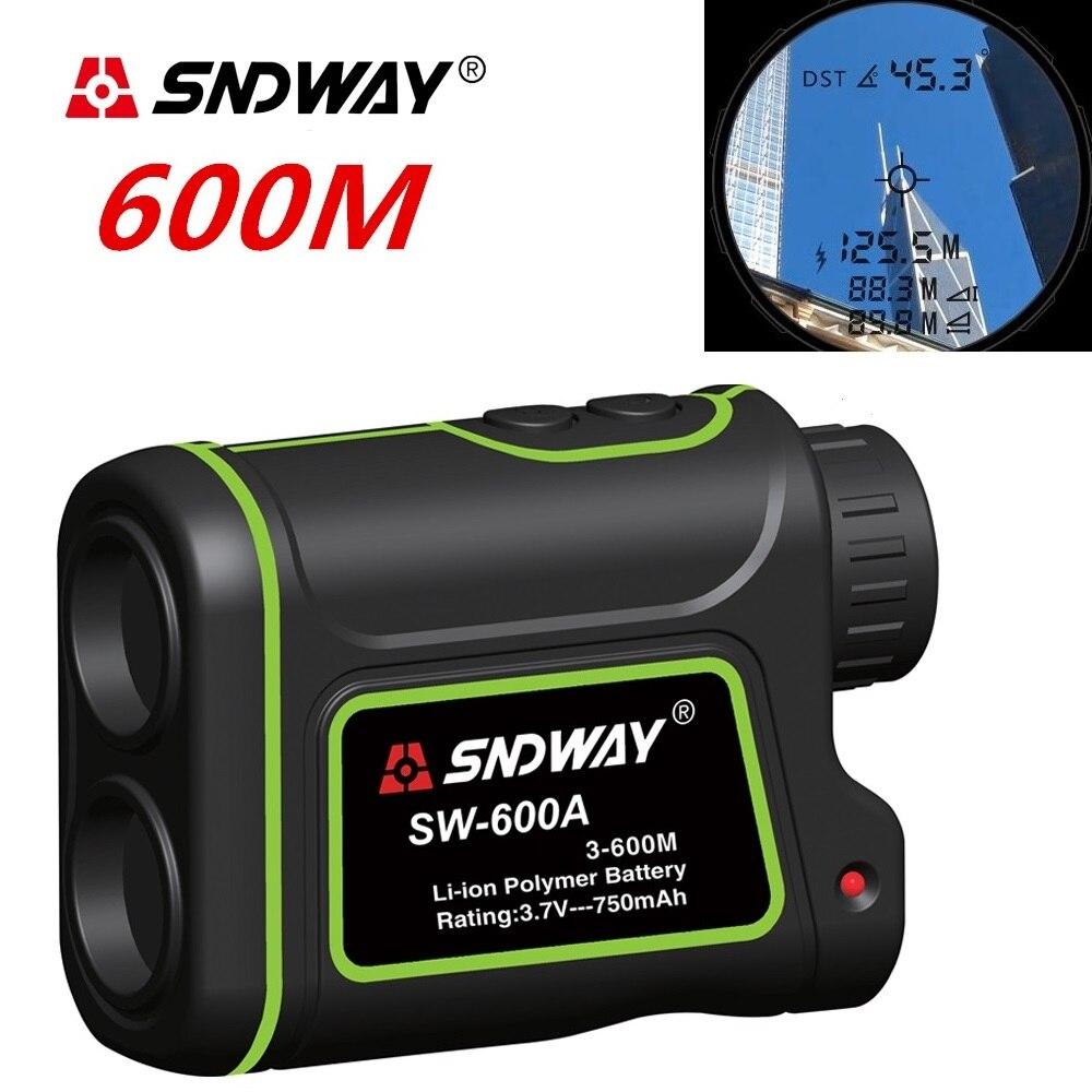 SNDWAY 600 m SW-600A Monoculare metro Telemetro Laser Tester di Distanza di caccia Telescopio trena laser range finder di misura esterna
