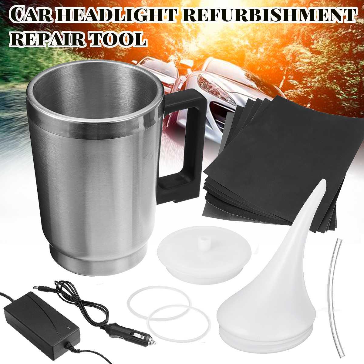 2 Styles Cover Car Headlight Refurbished Electrolytic Atomized Cup Headlamp Repair Liquid Repair Tool