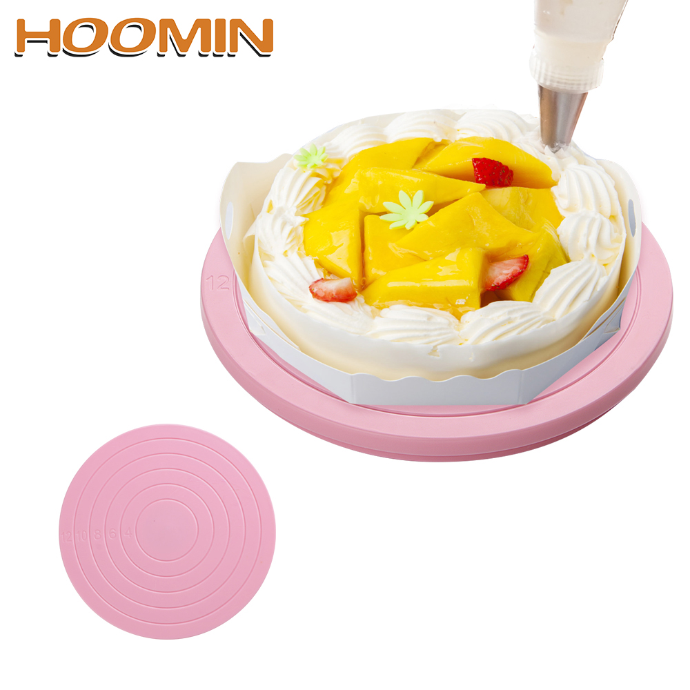 Defeedback Questions About Hoomin Rotating Cake Turntable Revolving Cake Decorating Stand Platform Bakeware 5  Cm Cake Decorating Tool On