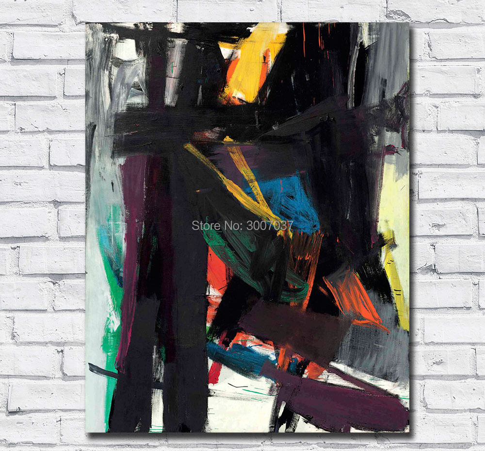 Oil Painting Franz kline king oliver Wall Art Canvas Pictures for Living Room and Bedroom No Frames Hand Painted Oil Painting in Painting Calligraphy from Home Garden