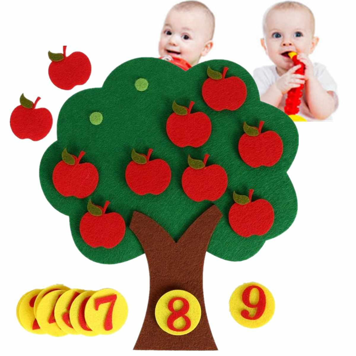 Giảng Dạy Montessori Trợ App le Cây Math Đồ Chơi TỰ LÀM vải Dệt Học Tập Sớm Đồ Chơi Giáo Dục Giảng Dạy Mẫu Giáo Math Đồ Chơi