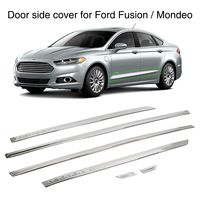 Car Door Side Cover Strip Exterior Trim Guard for Ford Fusion Mondeo 2013 2018 Stainless Steel 6Pcs