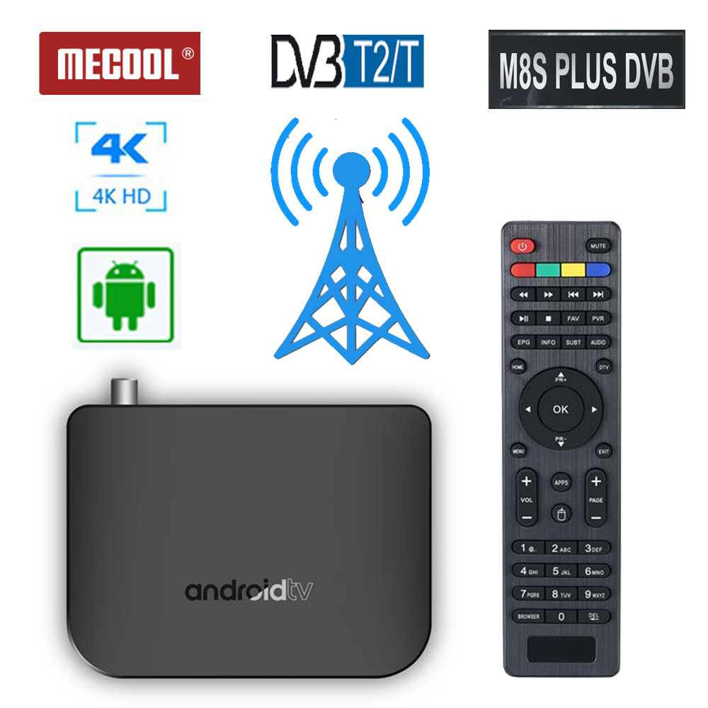 4K Android 7.1 Quad core TV boîtier décodeur pour tv numérique HD tuner DVB-T2 récepteur terrestre DVB T2 WiFi Youtube lecteur multimédia