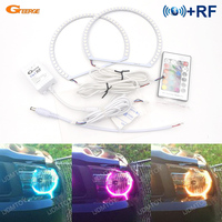 For Ford Mustang 2010 2011 2012 Excellent RF Bluetooth Controller Multi Color Ultra bright RGB LED Angel Eyes Halo Ring kit