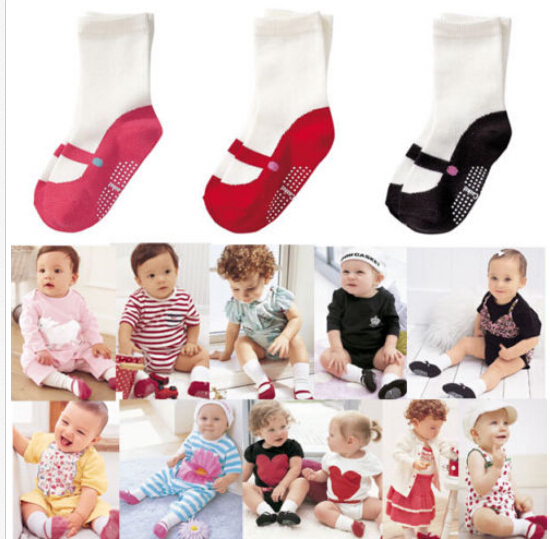 Cute Newborn Baby Boy Girl Anti-slip Socks for 6-24M