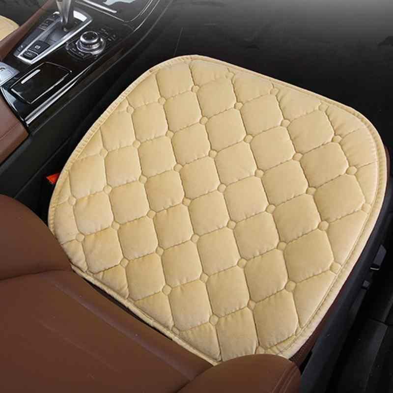 1 Uds. Cojín para asiento de coche, cojín antideslizante de invierno para coche, cojín antideslizante para mantener el calor del diamante