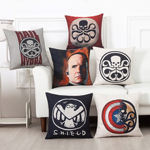 The Movie HYDRA Agents of S.H.I.E.L.D. Sofa Throw Pillowcase Home Decor Pillow Case Cover Cushion Cover New Without Fillings