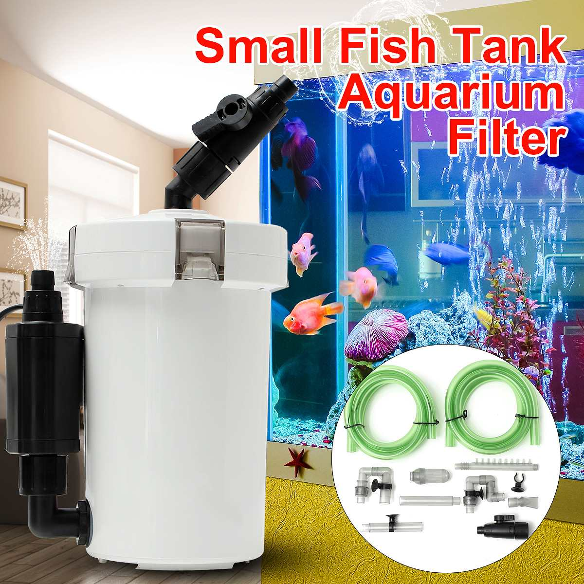 HW-602B Aquarium Fish Tank External Ultra-quiet Canister Filter Table Top Fish Tank Outer Filtration System 220-240V 6W 400l/hHW-602B Aquarium Fish Tank External Ultra-quiet Canister Filter Table Top Fish Tank Outer Filtration System 220-240V 6W 400l/h
