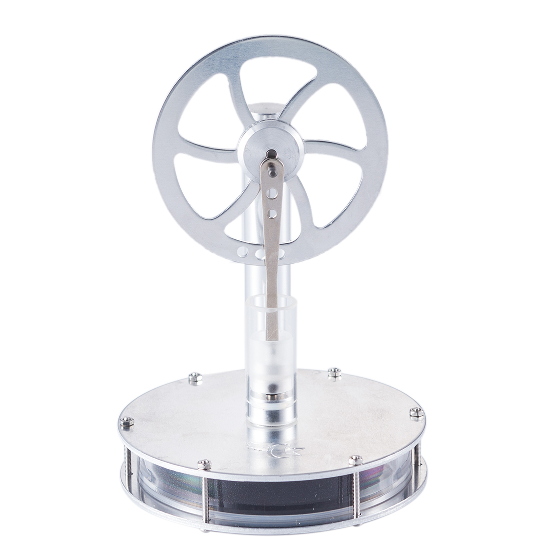 DIY  Low Temperature Stirling Engine Magnetic Connection Type Single Link Structure Stem Steam Learning Model Toys For Children
