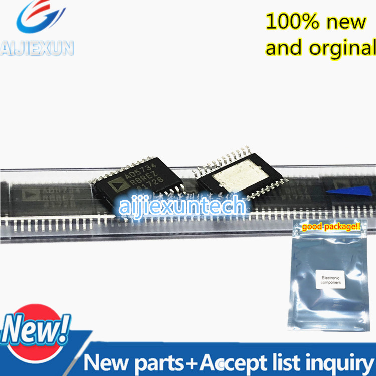 1Pcs 100% New and original  AD5734RBREZ  AD5734R Complete, Quad, 12-/14-/16-Bit, Serial Input,  Voltage  in stock 1Pcs 100% New and original  AD5734RBREZ  AD5734R Complete, Quad, 12-/14-/16-Bit, Serial Input,  Voltage  in stock