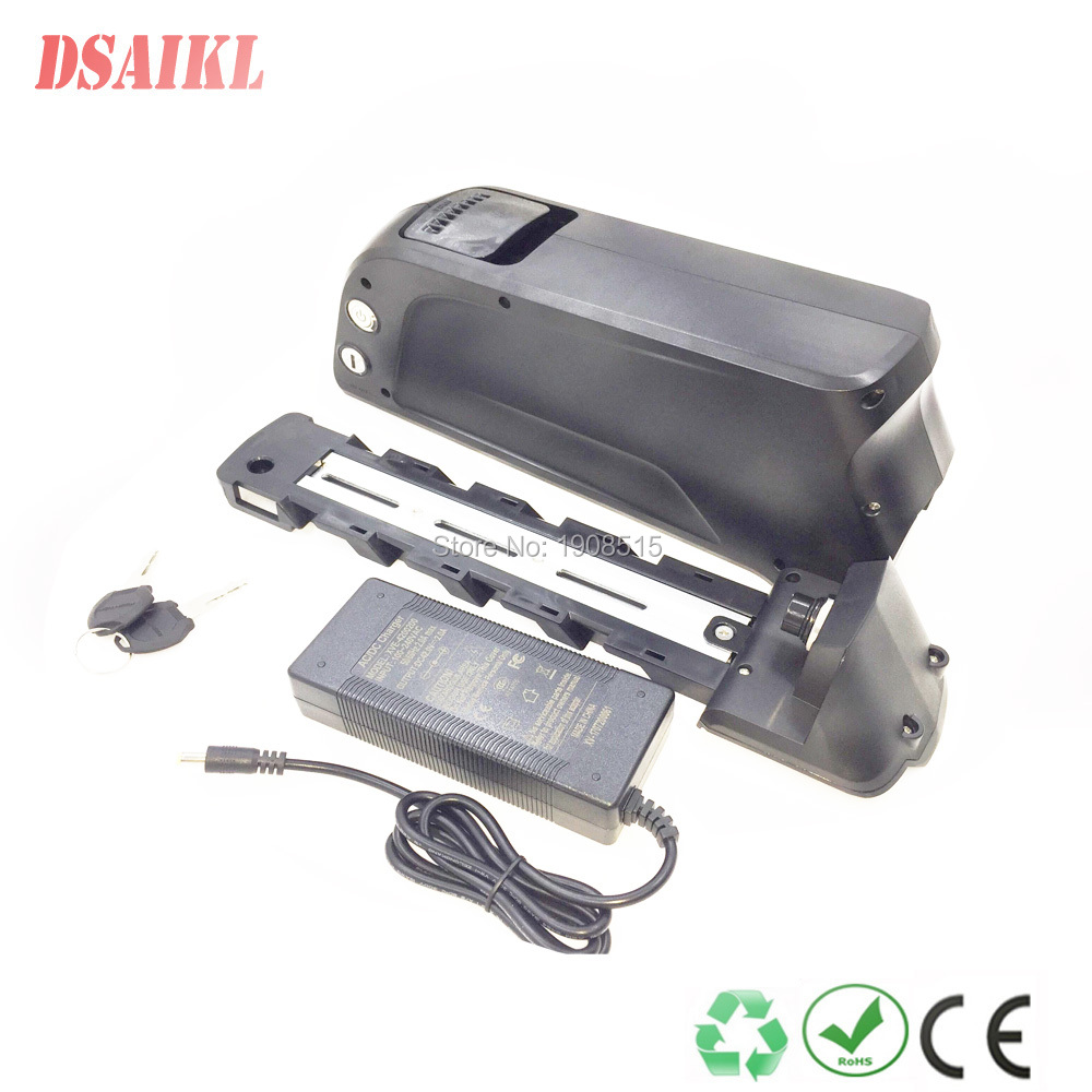 EU US no tax 250W 350W tube ebike frame shark battery pack 36V 8Ah 10Ah 12.5Ah li-ion with 42V 2A charger