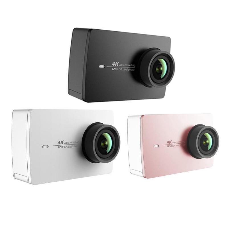 Xiaomi YI 4 K Action Cam Ambarella A9SE75 bras de caméra de sport 12MP CMOS 2.19in