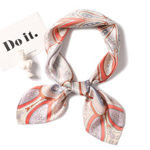 New Scarves Shawls Square Scarf Silk Feel Satin Head Neck High Quality Women Fashion Hair Tie Band Vintage 70*70cm Neckerchife