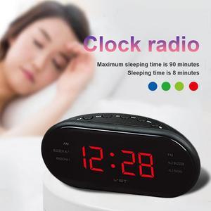Image 5 - ポータブルスピーカー LED デジタルアラーム時計 AM/FM デュアルチャンネルラジオ多機能プレーヤーステレオ Hd 音デバイスホームオフィス