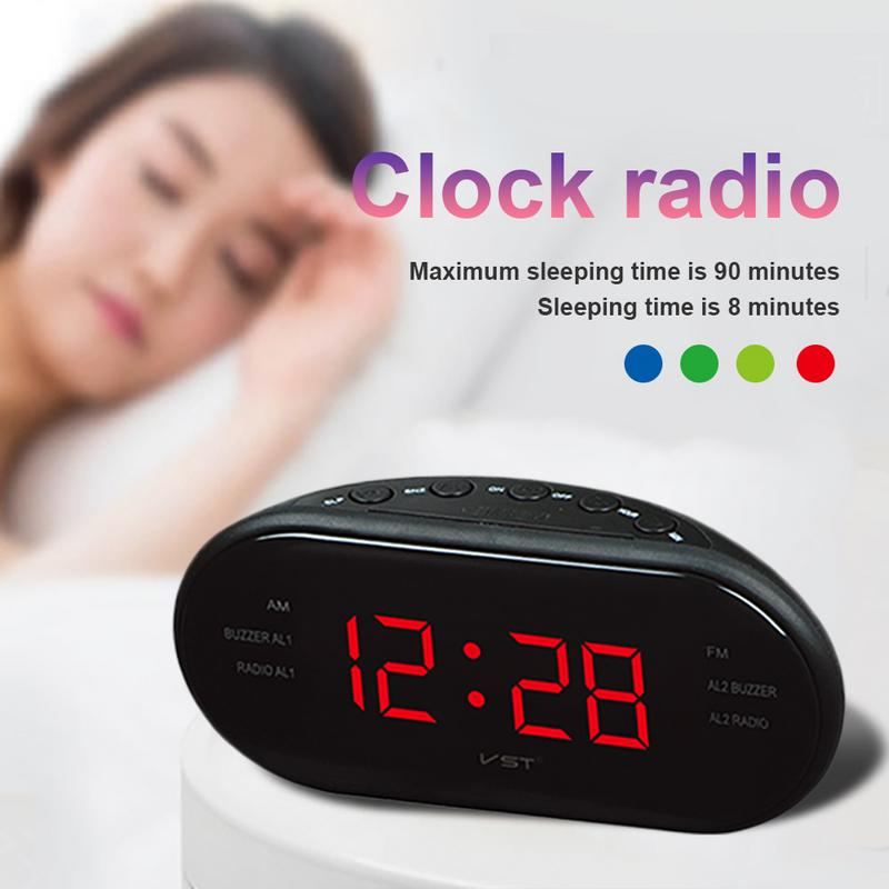 Image 5 - Portable Speaker LED Digital Alarm Clock AM/FM Dual Channel Radio Multi function Player Stereo Hd Sounds Devices Home Office-in Portable Speakers from Consumer Electronics