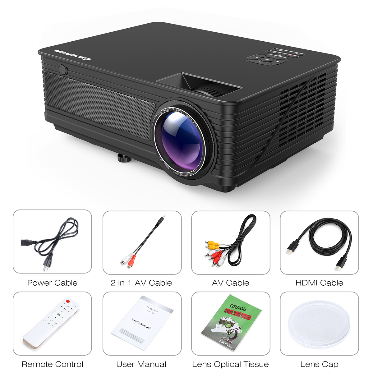 Excelvan Cl720 Full Hd Home Theater Projector 3000 Lumen: Excelvan M5 3500 Lumen LED Full HD Projector Home Cinema