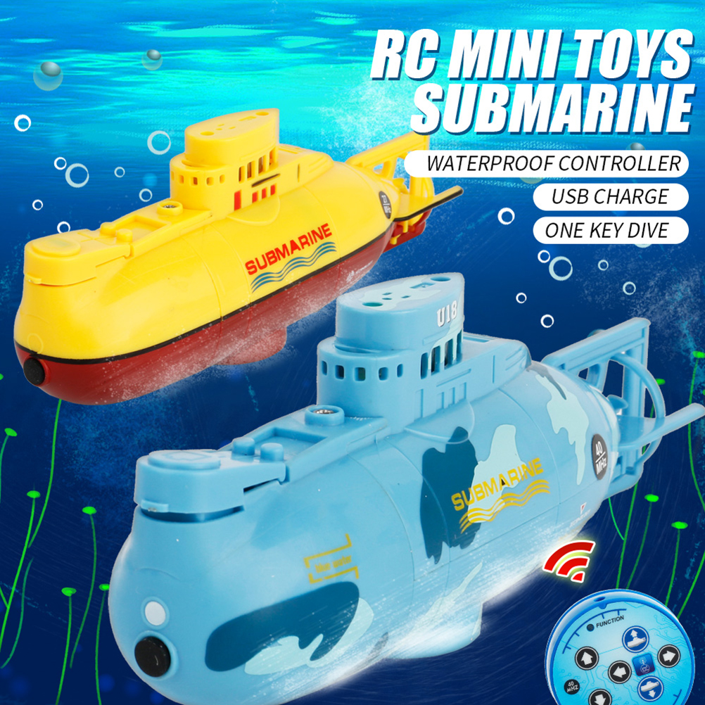 Mini Rc Submarine Ship 6ch High Speed Radio Remote Control Boat Model Electric Toys For Children Birthday Gift Durable Service