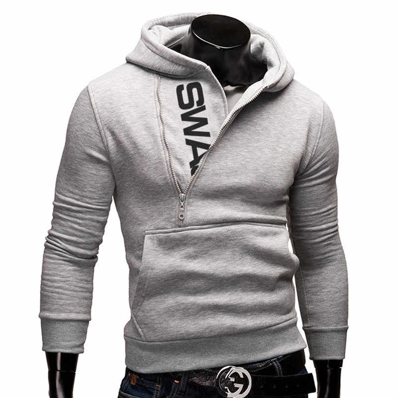 2019 새로운 도착 가을 패션 남자 캐주얼 슬림 편지 인쇄 머리 측면 지퍼 6 색 캐시미어 스웨터 남성 겉옷