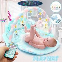 Музыкальный детский игровой коврик для спортзала 3 в 1, коврик для новорожденного малыша с музыкальным пианино, детский коврик для активного отдыха, коврик для ползания, детский коврик