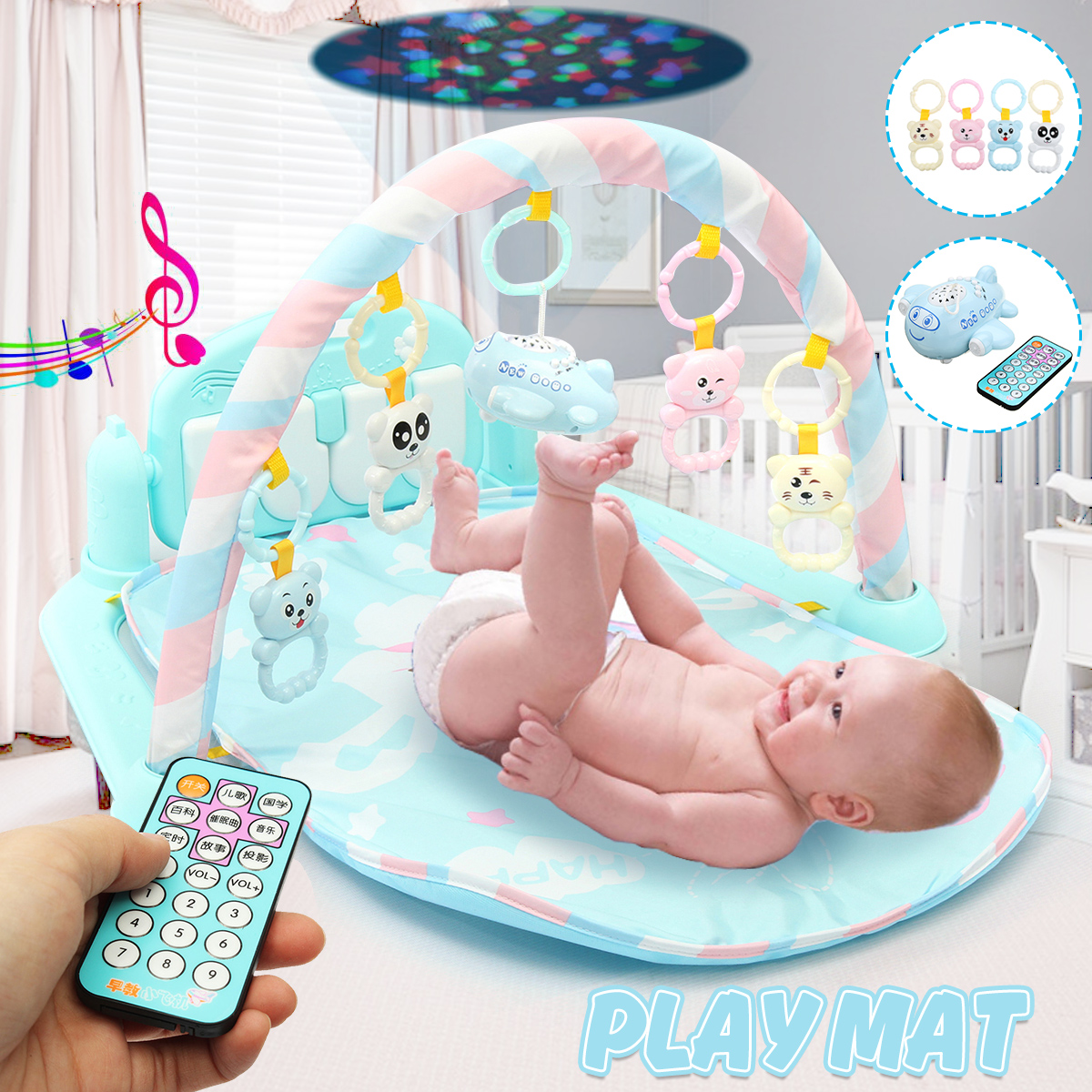 Music Baby Play Mat Gym 3 In1 Newborn Infant Baby Musical Piano Play Mat Blanket Kids Activity Carpet Crawling Mat Kids Mat