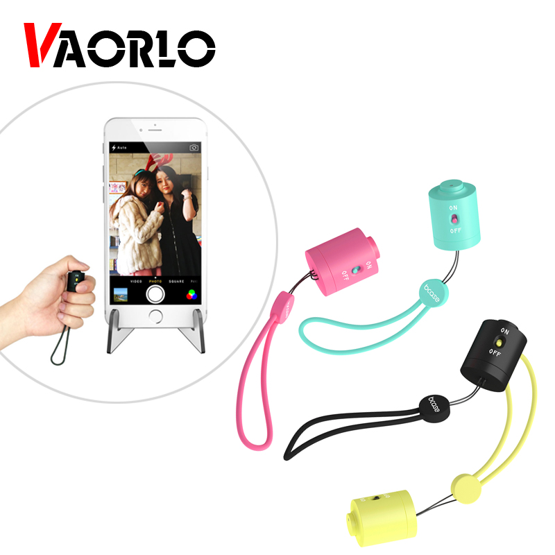 VAORLO <font><b>Bluetooth</b></font> <font><b>Remote</b></font> <font><b>Control</b></font> Button Wireless <font><b>Shutter</b></font> Release <font><b>Control</b></font> Self-Timer Phone Camera Monopod Selfie For IOS Android image