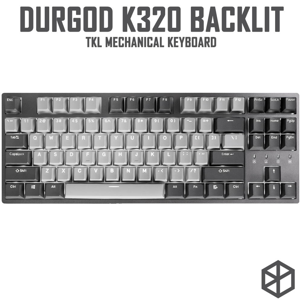 durgod 87 corona k320 backlit mechanical keyboard cherry mx switches pbt doubleshot keycaps brown blue black