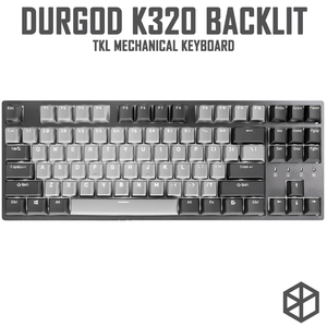 Durgod 87 corona k320 teclado mecânico retroiluminado cherry mx switches pbt doubleshot keycaps marrom azul preto vermelho prata interruptor