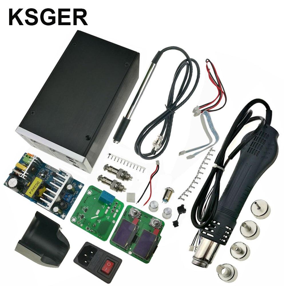 KSGER 2IN1 Hot Air Gun Electric Digital Temperature controlled Rework Desoldering Air Dryer Solder Station Heat