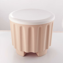Plastic Storage Box Multi-purpose Stool Home Sundries Storage Supplies with Removable Lid Stackable Stool Storing Stool Chair(China)