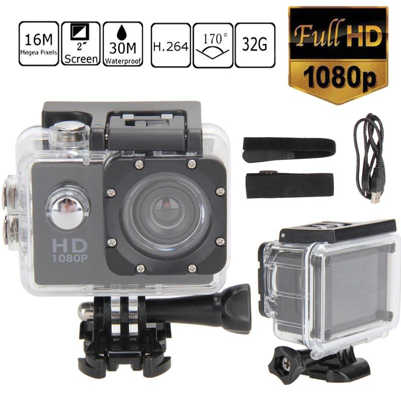 ALLOET 5MP Ultra HD Action Camera 1080P Waterproof Action Camcorder Sports DV