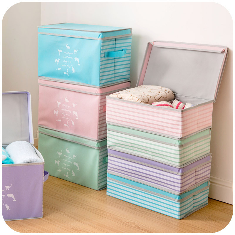 Foldable Nonwoven Fabric Clothes Organizer Storage Underwear Clothing Storage Box
