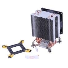 LANSHUO Reinem Kupfer 4 Heatpipe Thermische Prozessor Kühler Für LGA/1150/1151/1155/1156/ 1366 Intel Multi-Plattform CPU Kühler