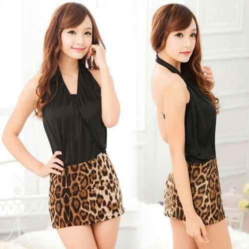 Sexy kobiety zwierząt Leopard Print spódnica Bodycon ołówek Mini krótka spódnica 2016