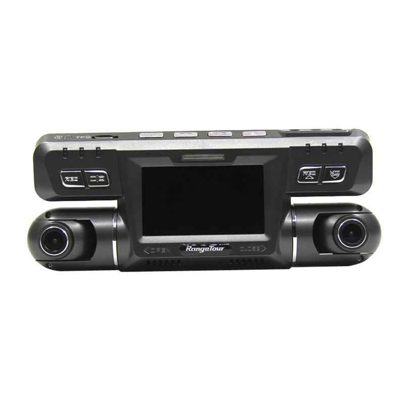 Новый стиль двойной объектив Автомобильный видеорегистратор видеокамера рекордер Full HD 1080 P 170 градусов левый 120 градусов правый видеорегистратор