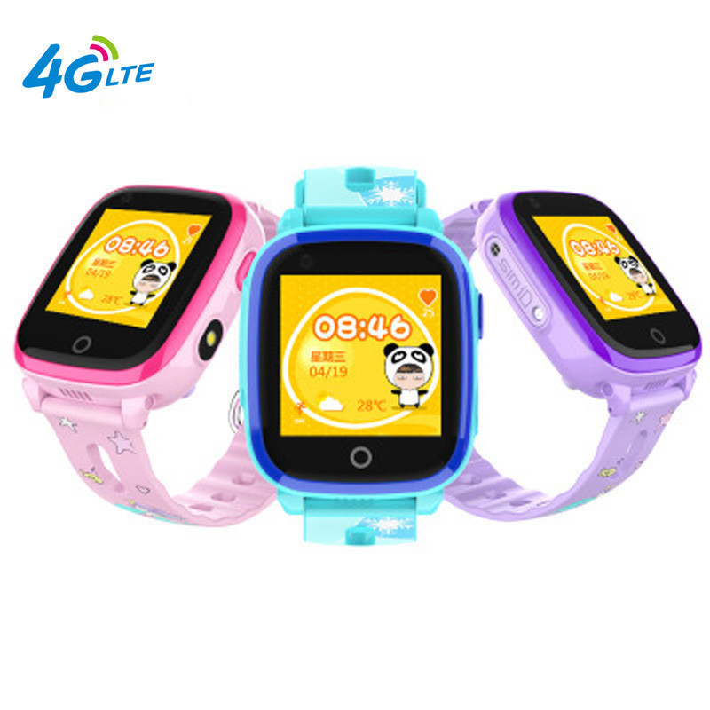 Ip67 Waterproof Smart 4g Remote Camera Gps Wi fi Df33 Kids Children Students Wristwatch Sos Video